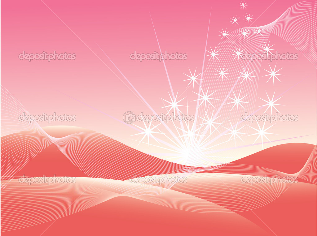 Beautiful pink background. Vector illustration.  Stock Vector #6081597