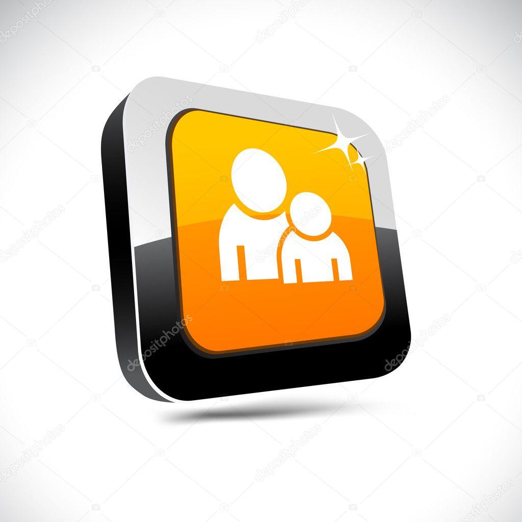 Forum 3d square button. — Stock Vector © Maxborovkov #6089057