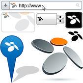 Business fan abstract logo design. — Stock Vector