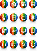 Multimedia buttons. — Stock Vector