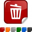 Recycle bin. icon. — Stock Vector #6103264