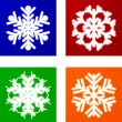 Luminous Snowflakes. - Stock Vector