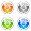 Settings buttons. — Stock Vector #6106957