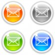 Mail buttons. — Stock Vector