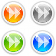 Forward buttons. — Stock Vector