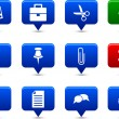 Office  buttons. - Image vectorielle