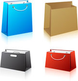 Set of shopping bags. — Stock Vector