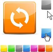 Atualizar botão brilhante. — Vetor de Stock