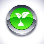 Ecology 3d button. — Stock Vector
