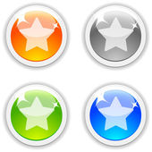 Favorite buttons. — Stock Vector