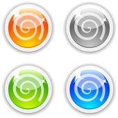 渦巻き模様のボタン. — ストックベクタ