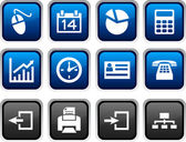 Office icons. — Stock Vector
