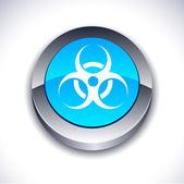 Botão 3d de vírus. — Vetor de Stock