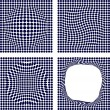 Set of halftone backgrounds. — Stockvektor