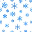 Beautiful snowflakes background. — Stock Vector
