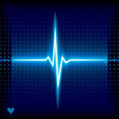 Ekg background. — Stock Vector