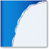 Cuaderno dañado. — Vector de stock