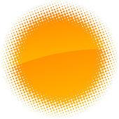 Halftone sun. — Stock Vector