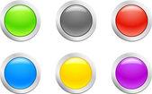 Raw button. [Vector] — Stock Vector