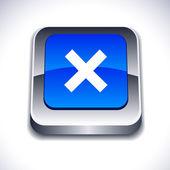 Abortar botón 3d. — Vector de stock