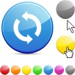 Refresh glossy button. — Stock Vector