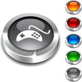 Gamepad 3d button. — Stock Vector