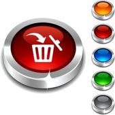 Delete 3d button. — Stock Vector