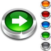 Botón 3d. — Vector de stock