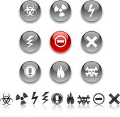 Warning icons. — Stock Vector