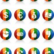 Royalty-Free Stock Vector Image: MOney buttons.