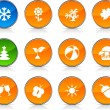 Seasons icons. — Stock Vector