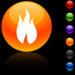 Fire  icon. — Stock Vector