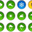 Royalty-Free Stock Vector Image: Weather icons.