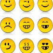 Smiley  icons. — Stock Vector