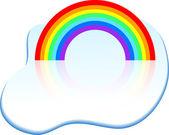 Rainbow icon. — ストックベクタ