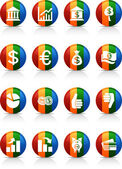 MOney buttons. — Stock Vector