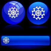 красивые снежинки. — Cтоковый вектор