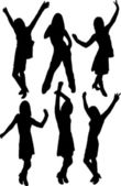 Female silhouettes. [Vector]. — Cтоковый вектор