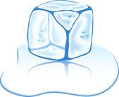 Ice cube. — Stock Vector