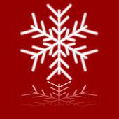 Beautiful luminous snowflake. — Stock Vector