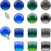 веб-кнопок. — Cтоковый вектор
