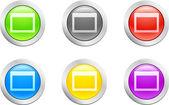 Open button. [Vector] — Stock Vector