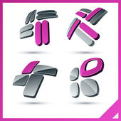 Pink company signs. — Stock Vector