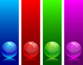 Glossy balls. — Stock Vector