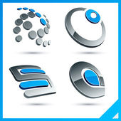 Blue 3d company signs. — Stock Vector