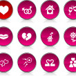 Stock Vector: Love icons.