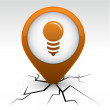 Bulb orange icon in crack. — Imagen vectorial