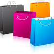 Set of color shopping bags. — Vettoriale Stock  #6227105