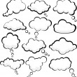 Speech clouds. — Stockvector  #6577180