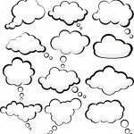 Speech clouds. — Stock Vector